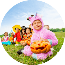 Halloween Party Outdoor With Costumes